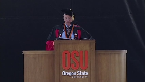 Thumbnail for entry 147th Annual Oregon State University Commencement (2016) - Color Guard