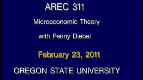 Thumbnail for entry AREC 311 Winter 2011 - Lecture 26