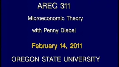 Thumbnail for entry AREC 311 Winter 2011 - Lecture 20