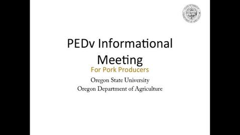 Thumbnail for entry PED Virus Informational Meeting 1-28-16