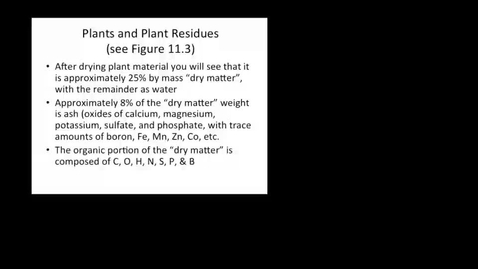 Thumbnail for entry Soil Organic Matter and Plant Residues