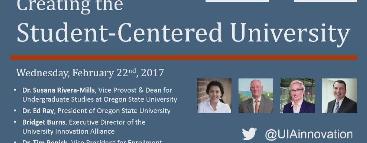 Creating the Student-Centered University Feb 22, 2017