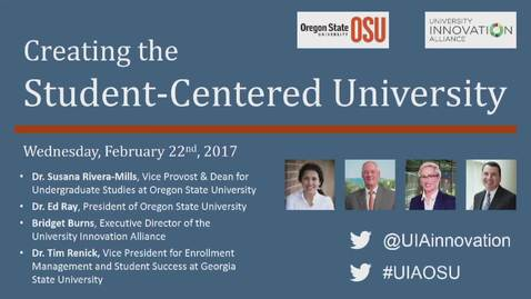 Thumbnail for entry Creating the Student-Centered University Feb 22, 2017