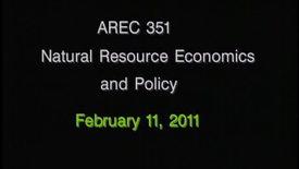 AREC 351 Winter 2011 - Lecture 15