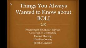 Things you always wanted to know about BOLII