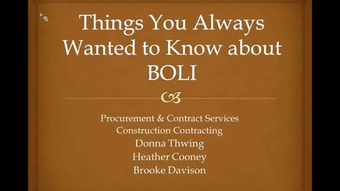 Thumbnail for entry Things you always wanted to know about BOLII