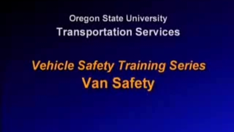 Thumbnail for entry Van Safety
