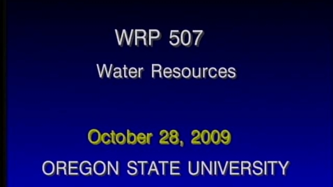 Thumbnail for entry WRP 507 Fall 2009 - Lecture 4