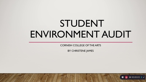 Thumbnail for entry Student Environment Audit - April 28th 2019, 6:44:47 pm