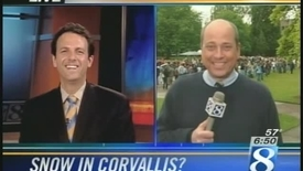 """Thumbnail for entry """"Snow in the Quad"""" - KGW Channel 8 News coverage, May 25, 2006 [2 of 2]"""