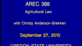 Thumbnail for entry AREC 388 Fall 2010 - Lecture 01