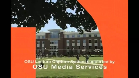 Thumbnail for entry BB 450/550 Lecture 1 for June 21, 2011