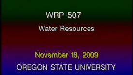 Thumbnail for entry WRP 507 Fall 2009 - Lecture 7