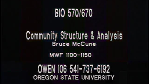 Thumbnail for entry BIO 570 - Lecture 15: CA