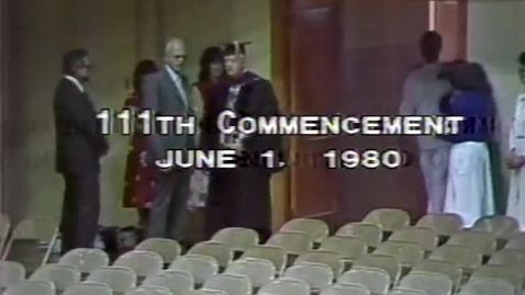 Thumbnail for entry OSU Commencement, 1980