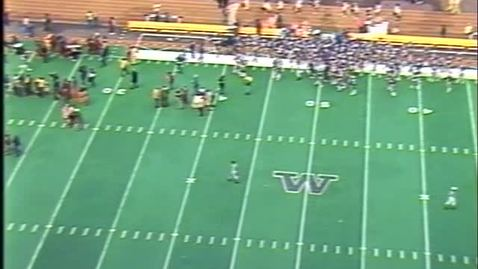 Oregon State University vs. University of Washington (football), October 19, 1985. Second Half.