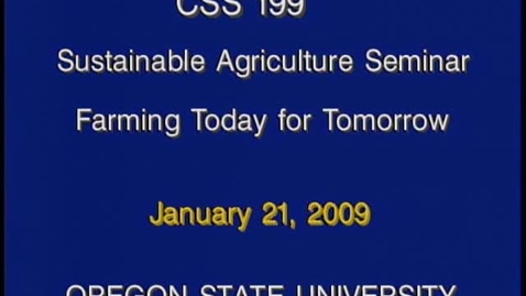 Thumbnail for entry CSS 199 Winter 2009 - Lecture 3