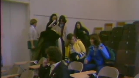 Thumbnail for entry Music, Education and Pharmacy classroom and laboratory footage, February 15, 1980
