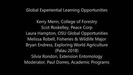 Thumbnail for entry Global Experiential Learning Opportunities