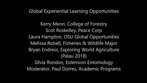 Global Experiential Learning Opportunities