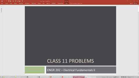 Thumbnail for entry ENGR 202 Class 11 - 05/07/18