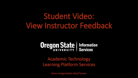Thumbnail for entry Student Video: View Instructor Feedback