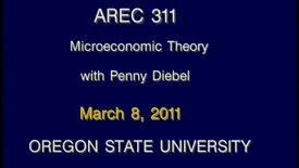 AREC 311 Winter 2011 - Lecture 32
