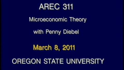 Thumbnail for entry AREC 311 Winter 2011 - Lecture 32