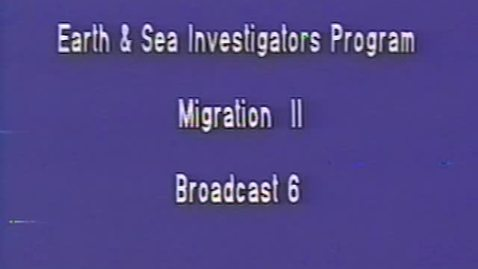 Thumbnail for entry Earth and Sea Investigators Program – Salmon Migration, April 28, 1994.