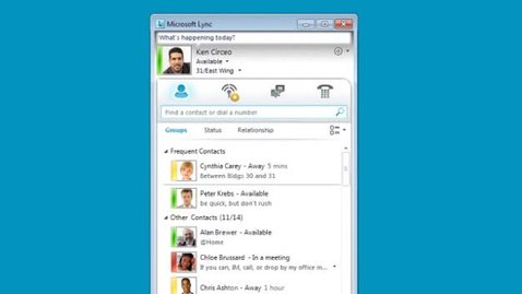 Thumbnail for entry Microsoft Lync: How to Set Your Location