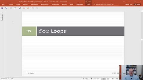 for Loops in MATLAB