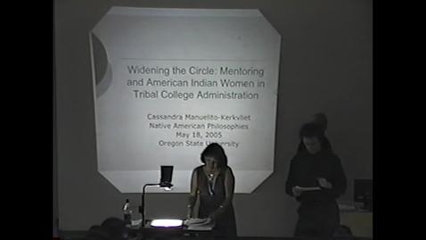 Thumbnail for entry Cassandra Manuelito, Native American Philosophies, (May 2005)