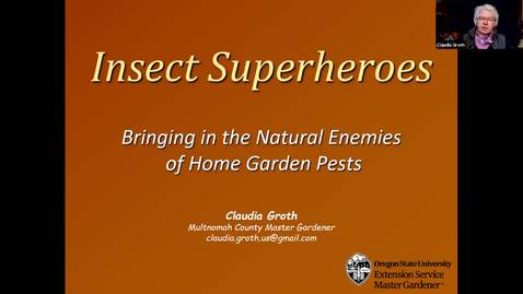 Thumbnail for entry Master Gardener Webinar Series - Insect Superheroes