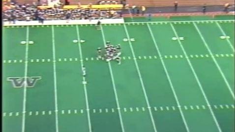 Oregon State University vs. University of Washington (football), October 19, 1985. First Half.