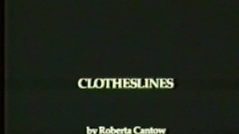 Thumbnail for entry Clotheslines