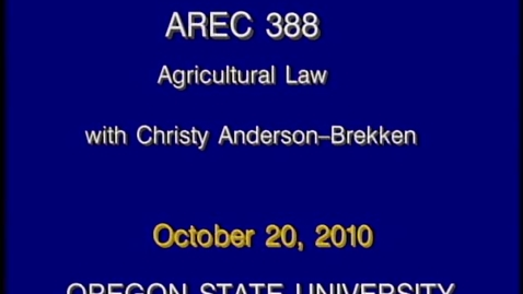 Thumbnail for entry AREC 388 Fall 2010 - Lecture 08
