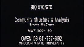 BIO 570 - Lecture 12: NMS concl.