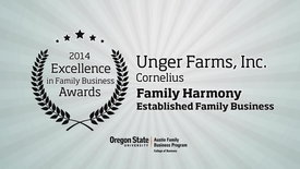 Thumbnail for entry 2014, Unger Farms, Inc., Excellence in Family Business Awards