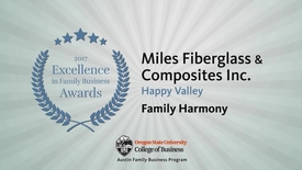 Thumbnail for entry Miles Fiberglass & Composites - 2017 Excellence in Family Business Awards