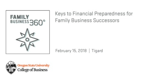 Thumbnail for entry Keys to Financial Preparedness for Family Business Successors