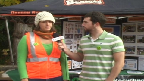 Thumbnail for entry KBVR News - America Recycles Day, Fall 2011