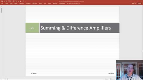 Thumbnail for entry Summing & Difference Amplifiers