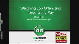 Weighing Job Offers and Negotiating Pay