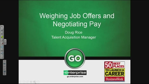 Thumbnail for entry Weighing Job Offers and Negotiating Pay