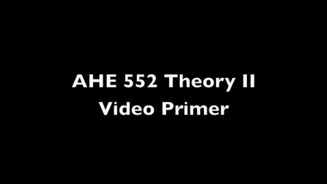 Thumbnail for entry AHE 522 Theory II Primer - Kolb's Experiential Model