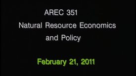 Thumbnail for entry AREC 351 Winter 2011 - Lecture 17
