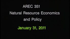 AREC 351 Winter 2011 - Lecture 11