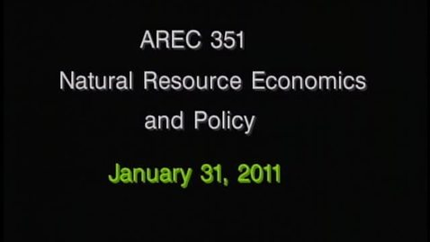 Thumbnail for entry AREC 351 Winter 2011 - Lecture 11