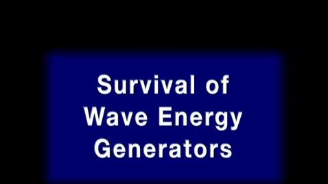 Thumbnail for entry Survival of wave energy generators