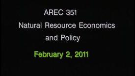 AREC 351 Winter 2011 - Lecture 12